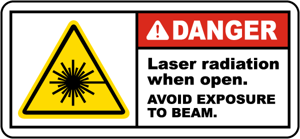 Laser Radiation When Open Label