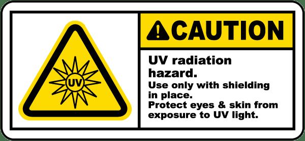 UV Radiation Hazard Protect Eyes Label