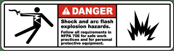 Shock and Arc Flash Hazards Label