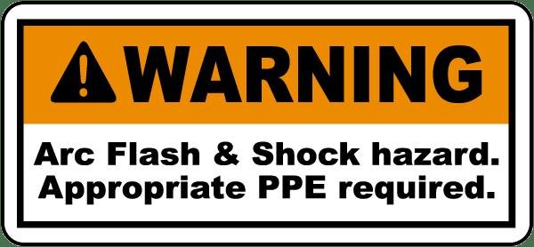 Arc Flash & Shock Hazard Label