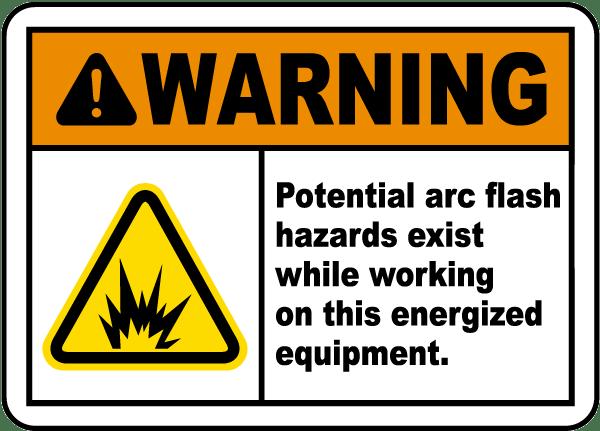Potential Arc Flash Hazard Label