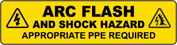 Arc Flash Appropriate PPE Required Floor Label