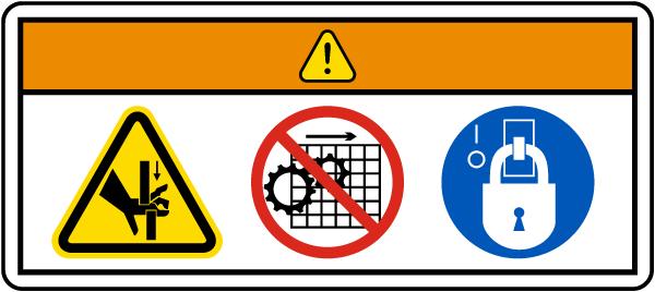 Pinch Point Lockout Label