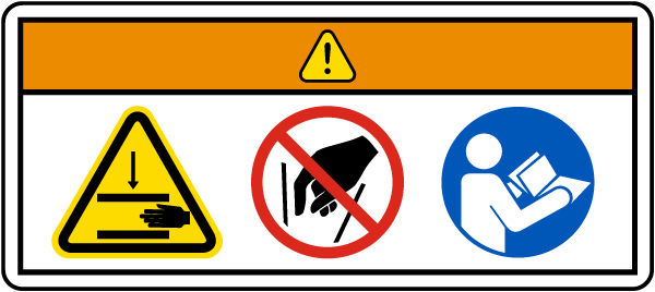 Pinch Point Do Not Reach Into Moving Parts Label