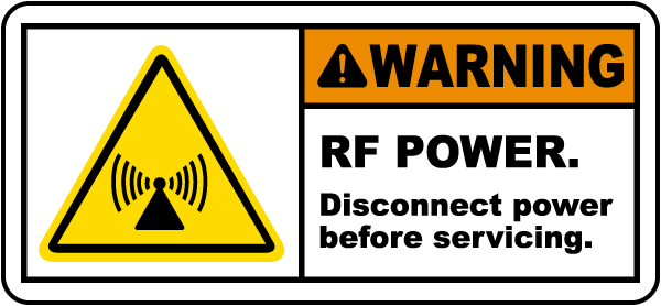 RF Power Disconnect Power Label