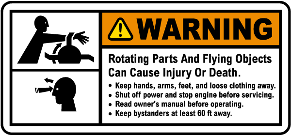 Rotating Parts and Flying Objects Label