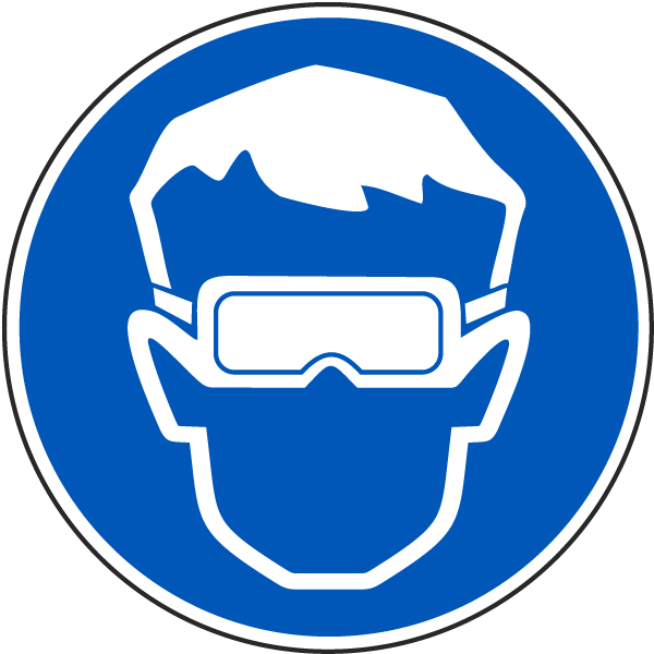 International Eye Protection Required Symbol Label