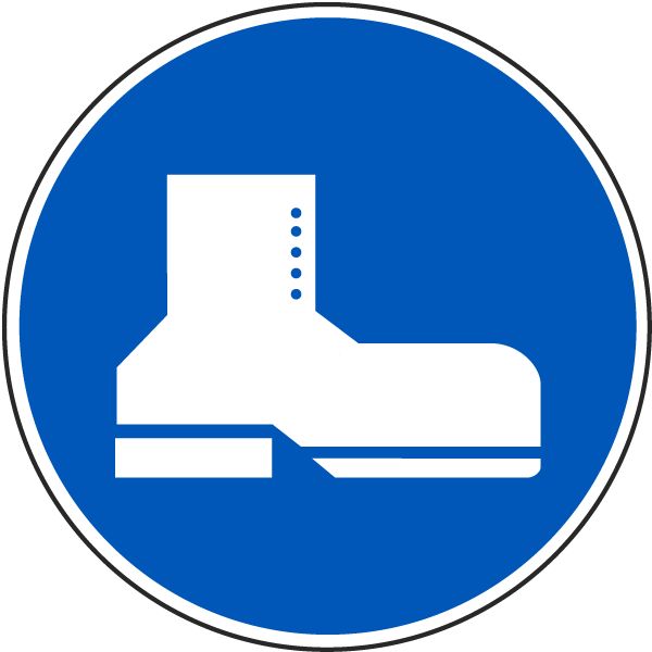 International Shoe Protection Required Symbol Label