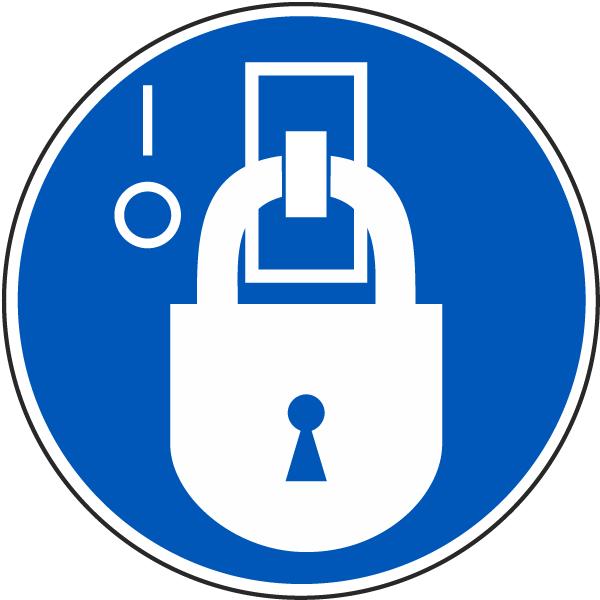De-Energized State Lockout Label