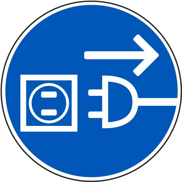 Disconnect Main Plug Label