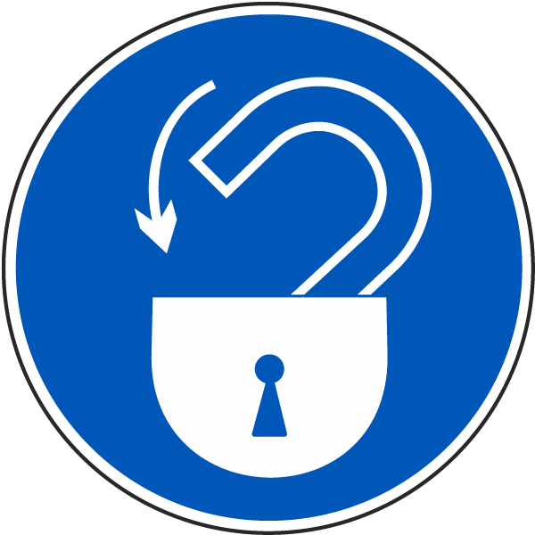 International Lock-Out Symbol Label