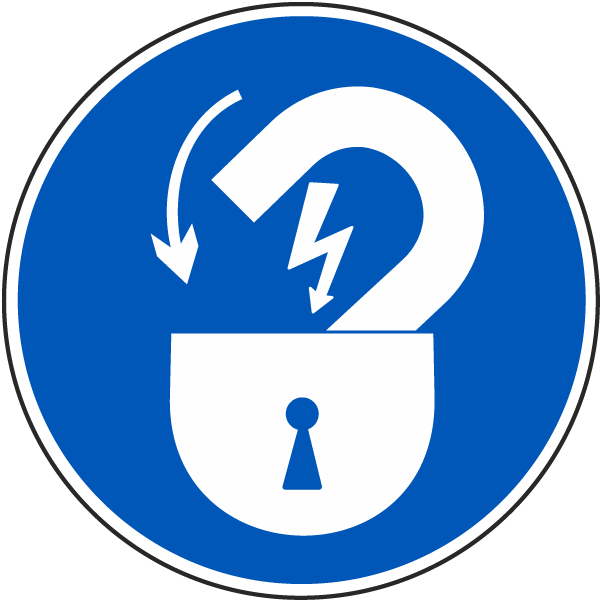 Lock Out Electrical Power Label