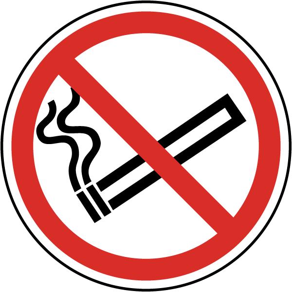 No Smoking Symbol Label