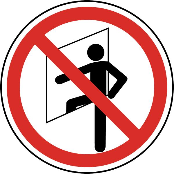 Do No Enter Confined Space Label