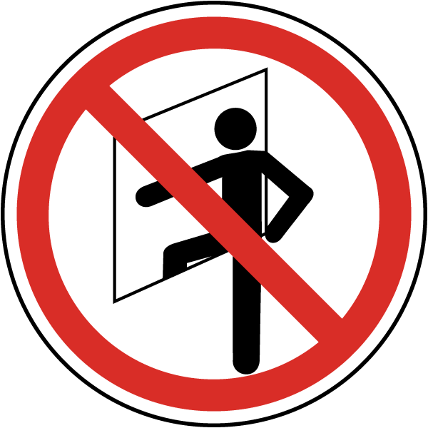 Do No Enter Confined Space Label