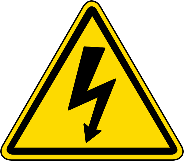 Electrical Shock / Electrocution Label