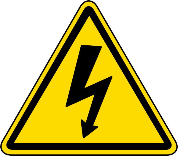 Electrical Shock / Electrocution Label
