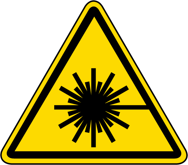 Laser Beam Warning Label