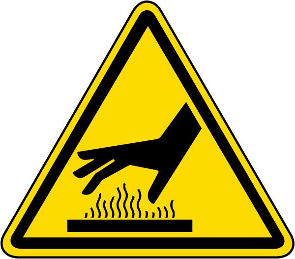 Hot Surface Warning Label