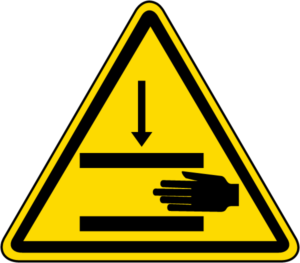 Pinch Point / Hand Crush Warning Label