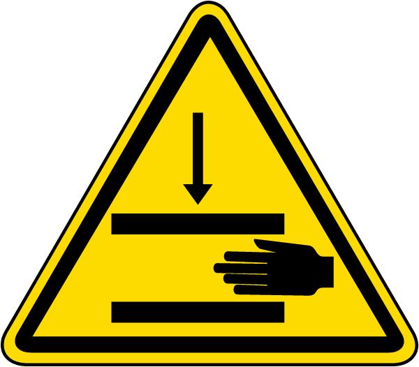 Pinch Point / Hand Crush Warning Label