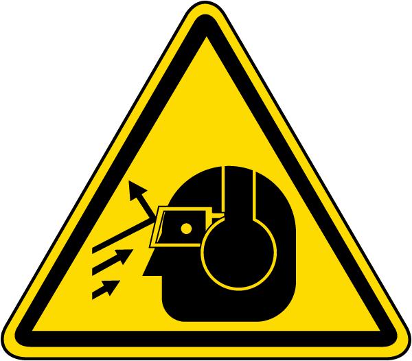 Flying Debris / Loud Noise Warning Label