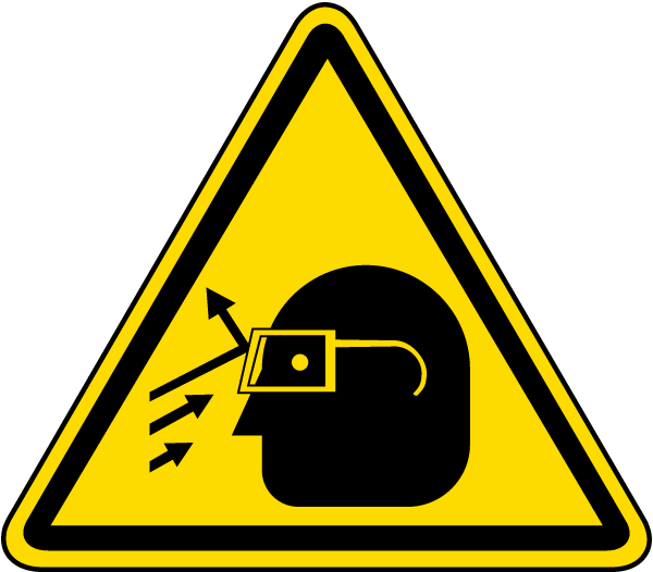 Flying Debris Warning Label