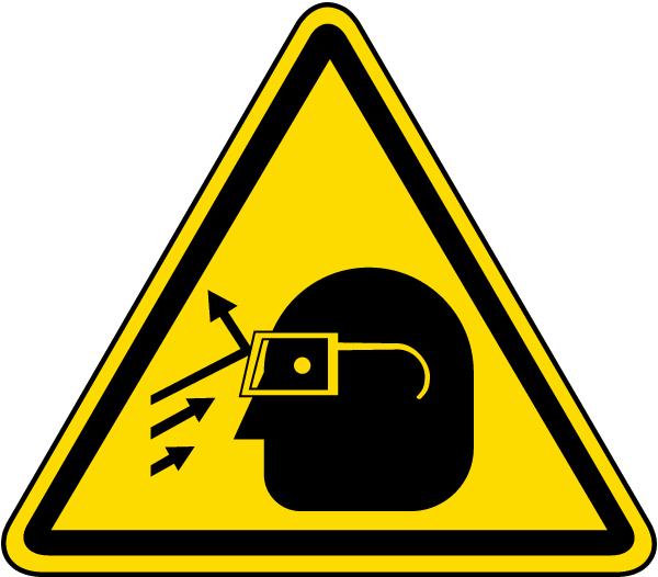 Flying Debris Warning Label
