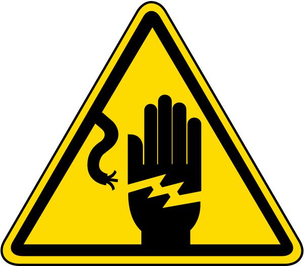 Electrical Shock Warning Label