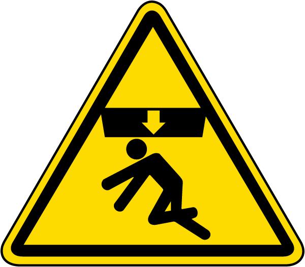 Body Crush Warning Label