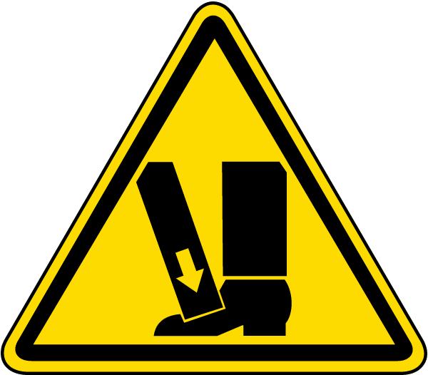 Foot Crush Warning Label