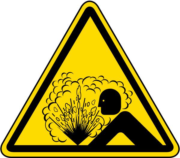 Explosion / Release of Pressure Label