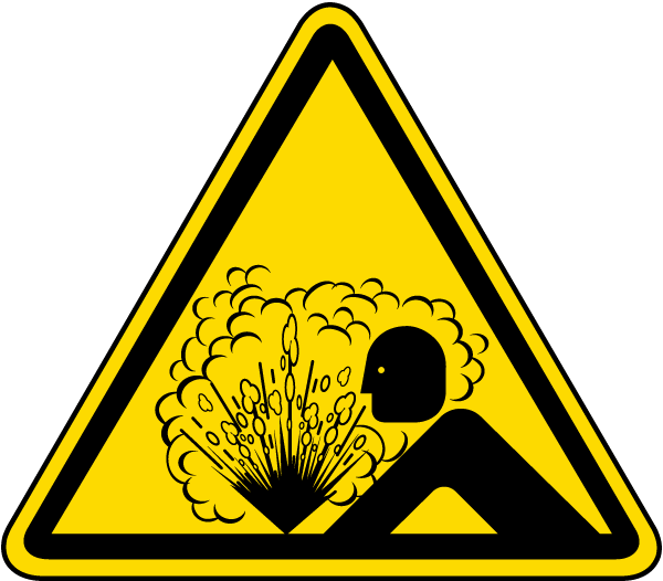 International Risk Of Explosion Hazard Symbol Label