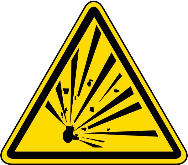 Explosive Material Warning Label