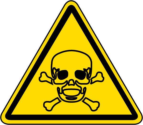 Toxic Material Warning Label