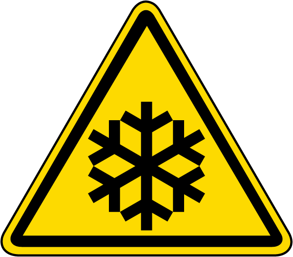 International Low Temperature Hazard Symbol Label
