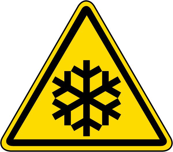 Low Temperature Warning Label