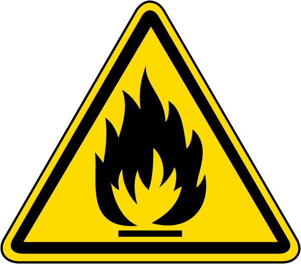 Flammable Material Warning Label