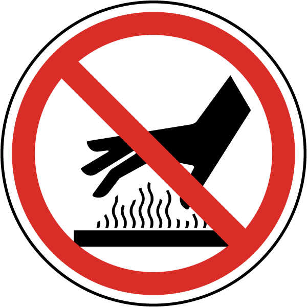 Do Not Touch Hot Surface Label