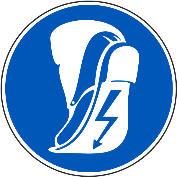 Wear Anti-Static Footwear Label