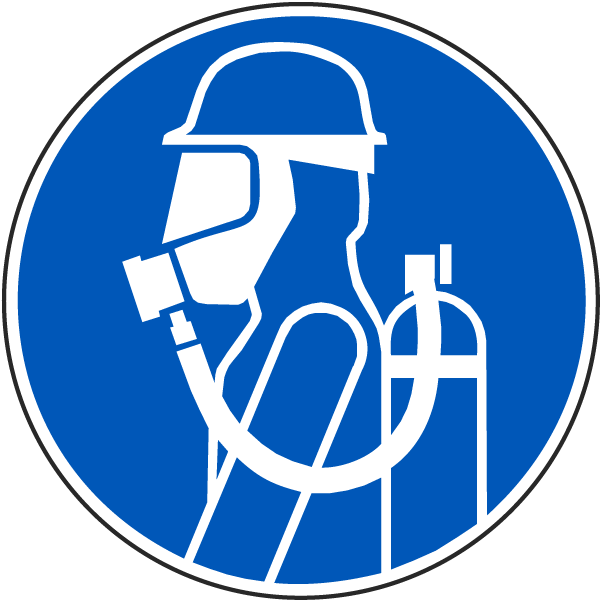 International Face Mask/Respirator Required Symbol Label