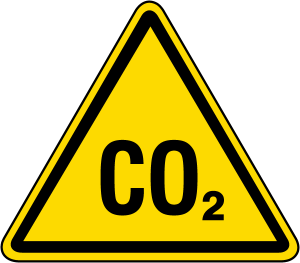 CO2 Warning Label