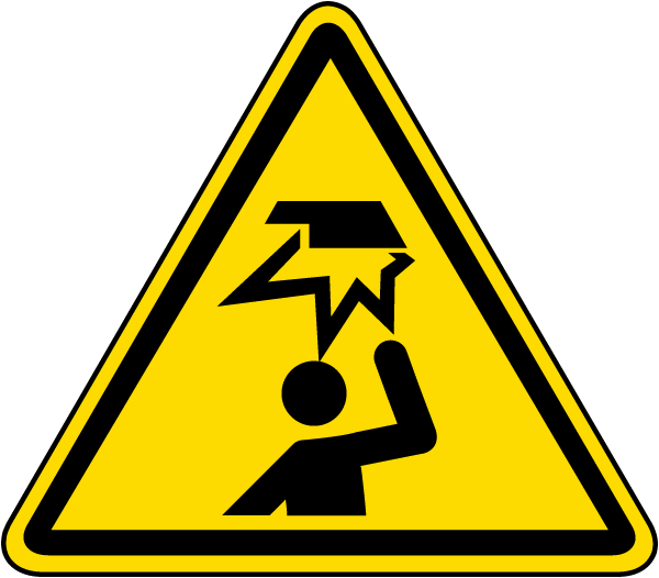 Overhead Obstacle Warning Label