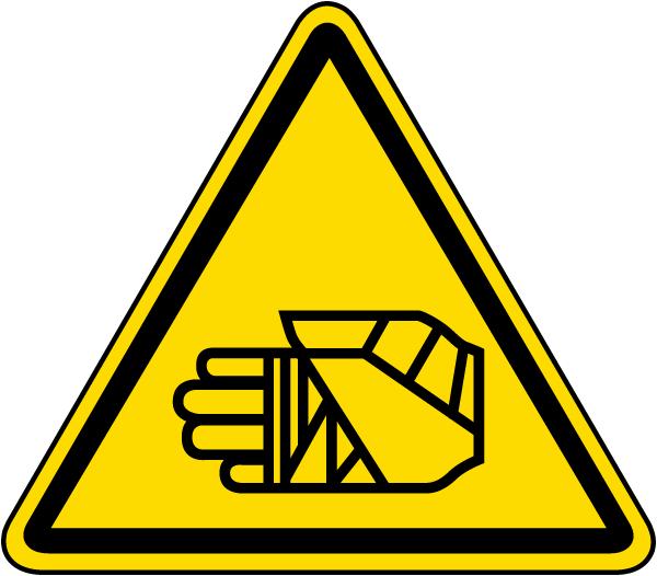 Chemical Burn Warning Label