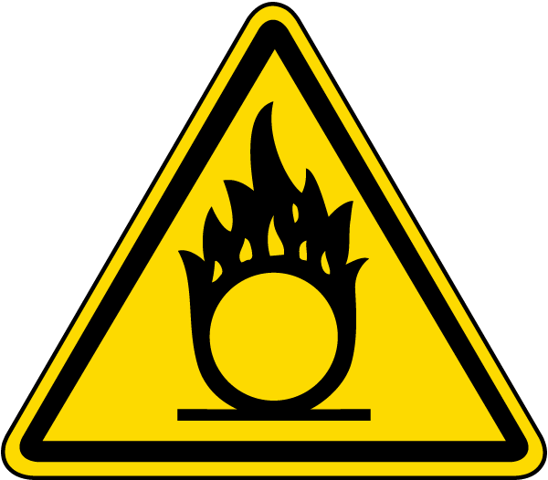 Oxidizing Material Warning Label