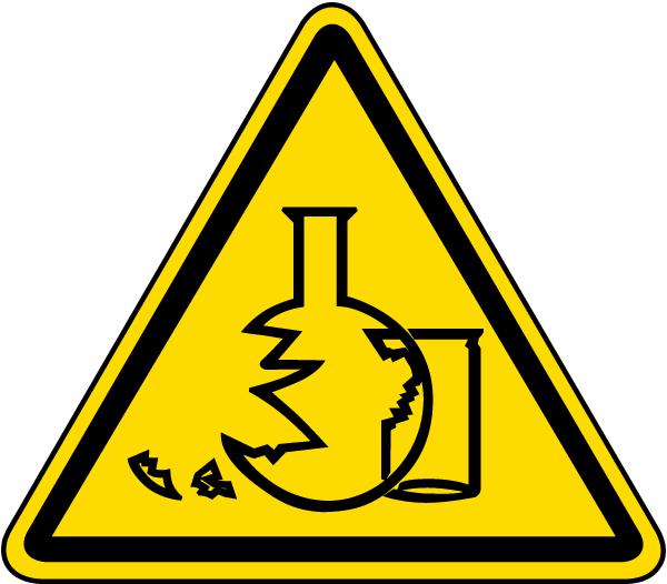 Glass Hazard Label