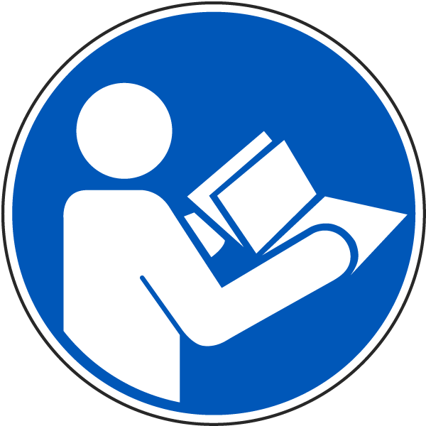 Read Instruction Manual Label