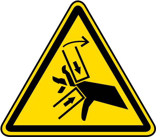 Hand Crush / Pinch Point Warning Label