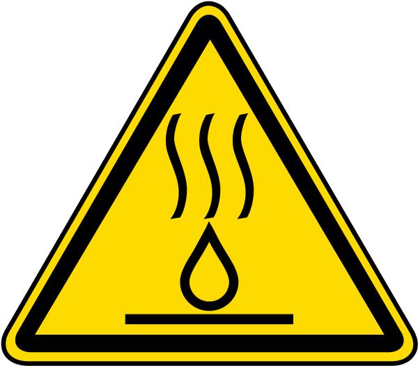 Hot Liquids Warning Label