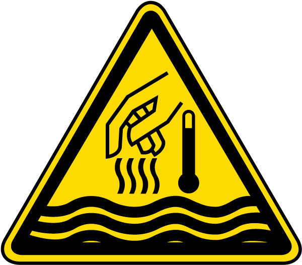 Hot Liquid and Steam Warning Label